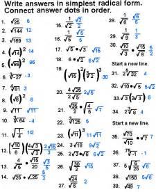 simplifying radicals worksheet with answers abitlikethis