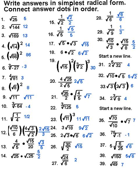 Simplifying Radical Expressions Worksheet by Simplifying Radicals Worksheet With Answers Abitlikethis