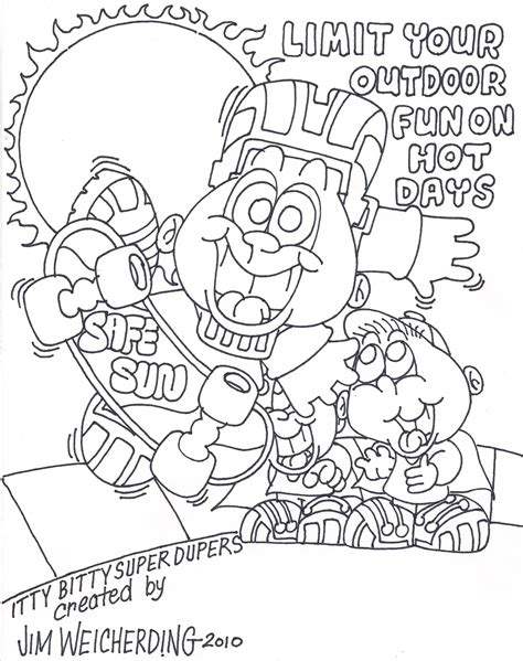free sun safety coloring pages