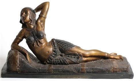 reclining odalisque art deco style reclining bronze egyptian odalisque