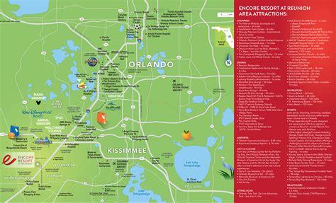 map of reunion florida local area encore resort in orlando