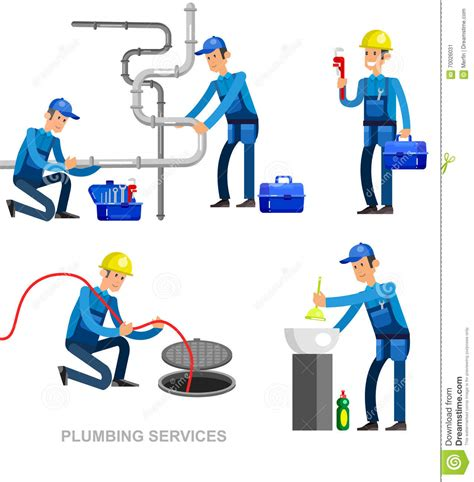 Plumbing Professionals by Selfie Family And Couples Vector Vector