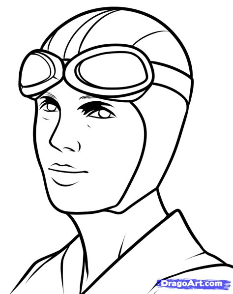 draw amelia earhart amelia earhart step by step drawing