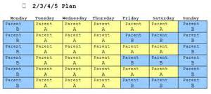 co parenting calendar template sle florida child custody schedules abc family