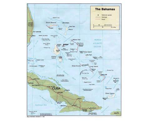map of us showing bahamas maps of bahamas detailed map of bahamas in