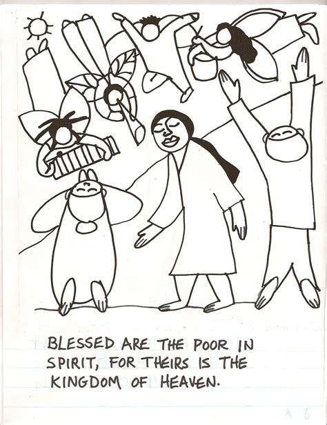 Beatitudes Coloring Pages Beatitudes Coloring Pages