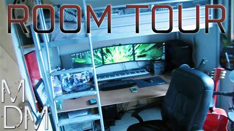 Bunk Bed Rooms epic room tour triple monitor gaming setup home music