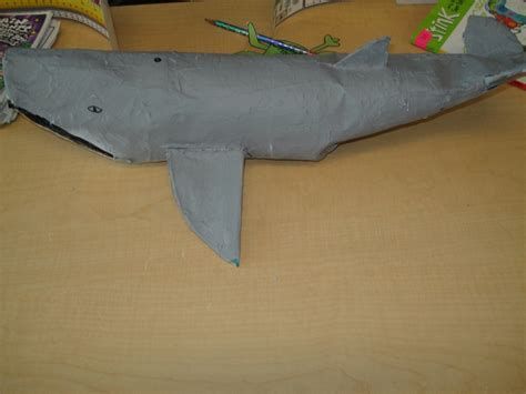 How To Make A Paper Mache Whale - blue whale from paper mache arctic animals created by