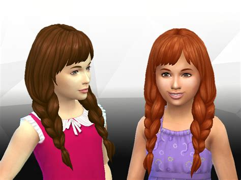 sims 4 child hair cc my sims 4 blog spring braids for girls by kiara24