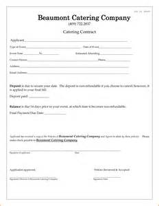 Cancellation Letter For Catering Services 10 Catering Contract Template Contract Template