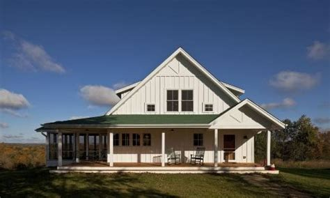 single story farmhouse with wrap around porch one story