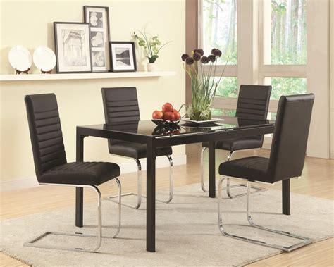 coaster 104311 black glass dining table a sofa