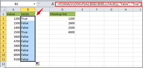 excel format values where this formula is true how to vlookup value and return true or false yes or no