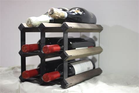 handmade countertop wine rack by wine products inc