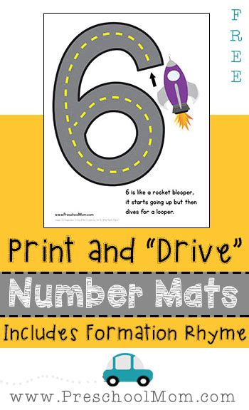 printable road numbers free number formation mats