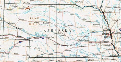 printable nebraska road map nebraska reference map