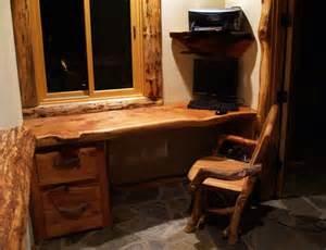 log desk juniper tables dining tables rustic handmade chairs