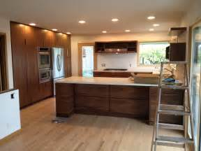 awesome Reusing Kitchen Cabinets #5: Midcentury-Walnut-Kitchen-Cabinet.jpg
