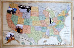 us map picture frame cut craft create personalized photo map for our paper