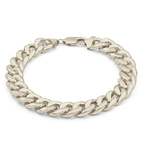 mens sterling silver curb bracelet 8 inch 011358