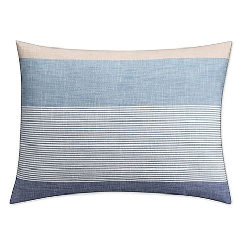 pillow shams bed bath and beyond buy kas seneca standard pillow sham in blue from bed bath