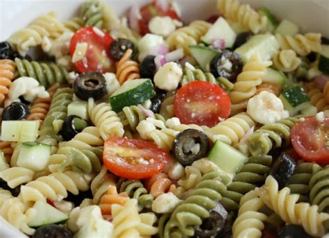 cold pasta salad www garlicrecipes ca greek garlic dill dressing pasta