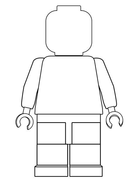 blank lego coloring pages blank lego person coloring page bltidm