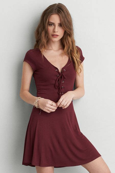 Dress Soft american eagle outfitters aeo soft lace up dress