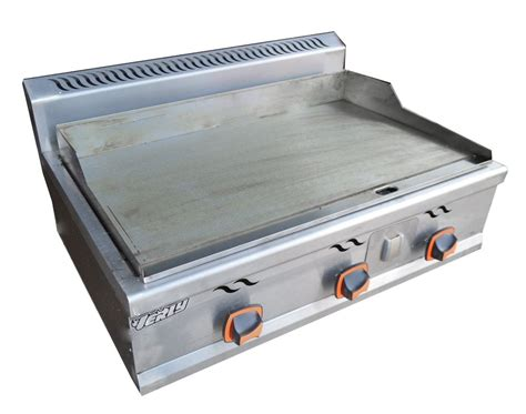 new stainless commercial kitchen lp gas countertop flat