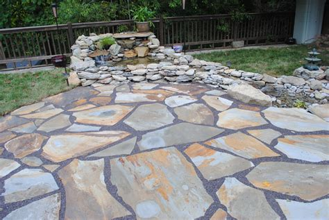 fresh installing flagstone patio over concrete 17576