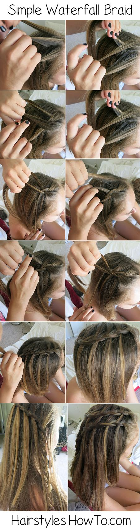waterfall hairstyle step by step usa fashion music news 15 step by step braided hair