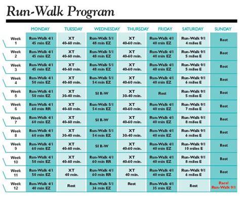 From To 5k Walking Plan by Run Walk Half Marathon Plan Working Out