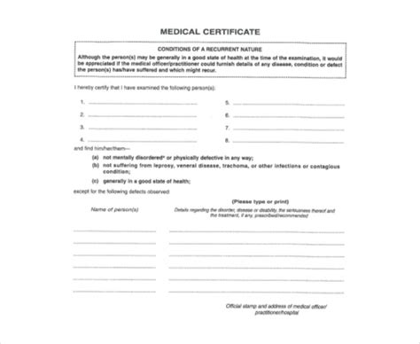 medical report template 18 free word pdf documents