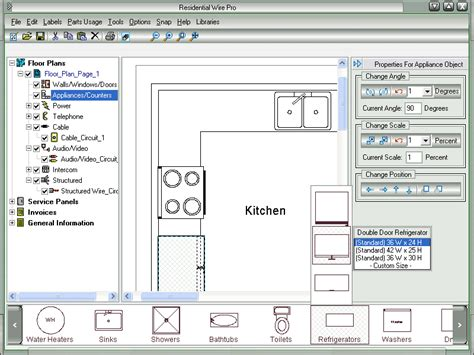 kitchen symbols for floor plans residential wire pro draw detailed electrical floor