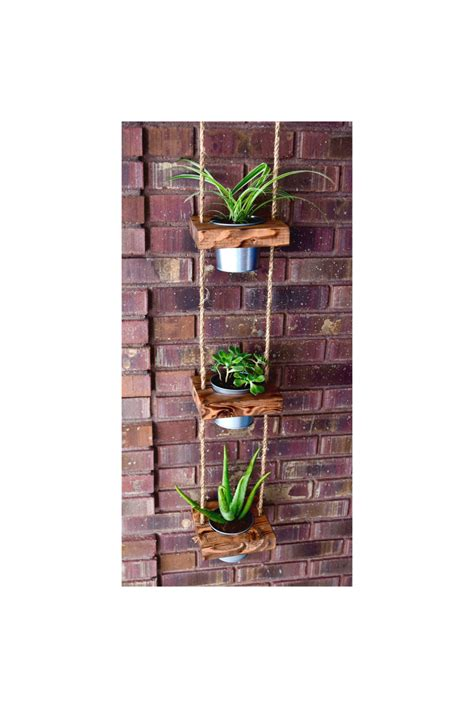 indoor hanging planters hanging planter indoor planter succulent by juniperwoodshop