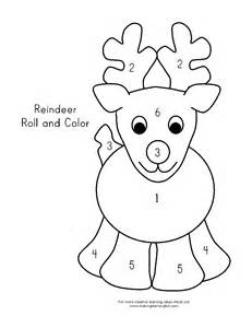 Reindeer Template by A Reindeer Pattern Coloring Pages