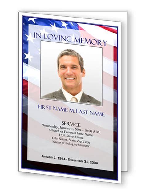 Funeral Program Templates Patriotic Us Free Patriotic Funeral Program Template