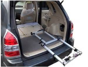 2 bicycles interior car carrier racks with wider rear
