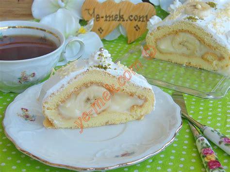 yemek jleli ya pasta resimli 3 pastane usul 252 muzlu rulo pasta tarifi nasıl yapılır