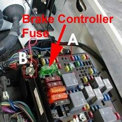 fuse location  trailer brake controller    chevy