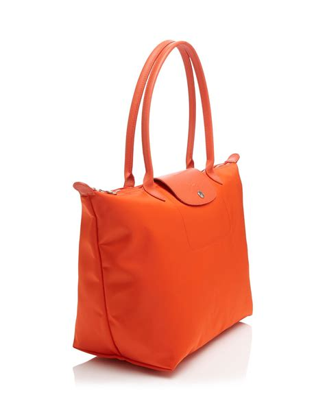 Longch Le Pliage Neo Handle Neo Shopper O R I G I N A L 2 lyst longch tote le pliage neo large in orange