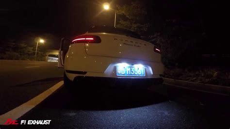 porsche macan acceleration porsche macan turbo with fi exhaust loud