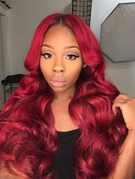 straight red ends sew in hairstyles 1000 ideas about burgundy hairstyles on pinterest burgundy