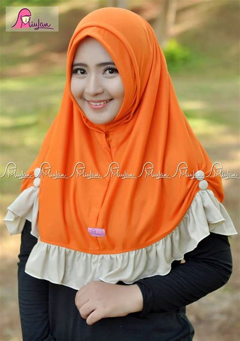 Jilbab Kaos Instan Rania Orange Miulan Boutique