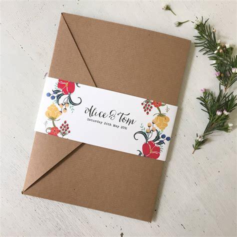 Pocketfold Wedding Invitations by Pocketfold Wedding Invitation By Tigerlily Wedding