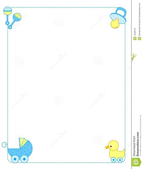 free printable baby shower borders 7 best images of free printable baby boy borders baby