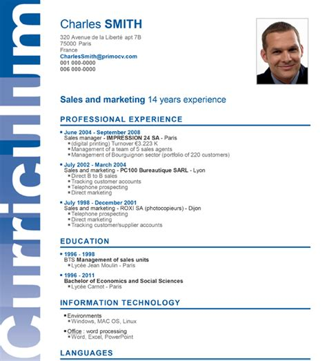 layout a cv a superb cv layout for your cv
