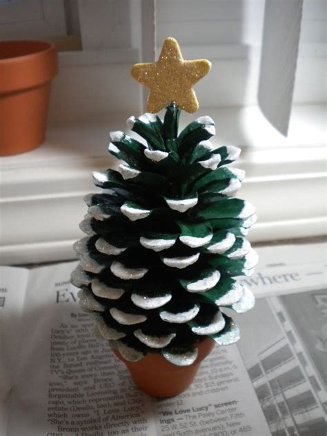 pine cone tree craft project how to make pine cone tree diy crafts
