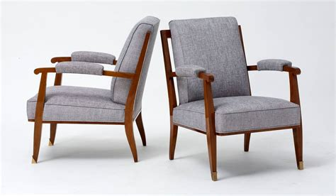 low armchairs maison leleu pair of low armchairs france 1957 for sale
