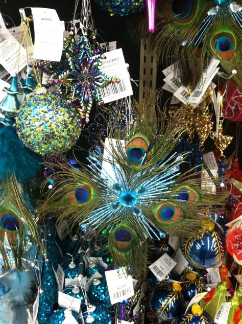 peacock ornaments hobby lobby christmas decorating